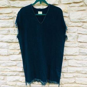 Simon Miller Denim Frayed Tunic Dress NWOT M L